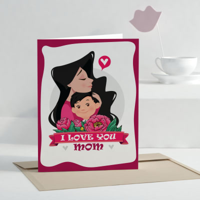 I Love You Mom Personalized Greeting Card