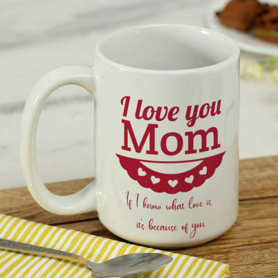 I Love You Mom Personalized Mug