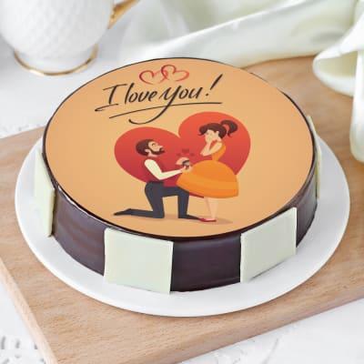 I Love You Proposal Cake (Half Kg)