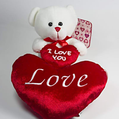 I Love You Teddy Bear With Heart Shaped Plush Pillow Gift