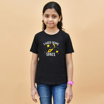 I Need Some Space Black T-Shirt for Girls