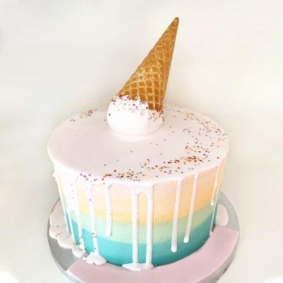 Ice Cream Rainbow Fondant Cake (3.5 Kg)