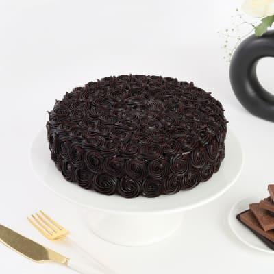 Indulgent Chocolate Rosette Cake (Eggless) (Half Kg)