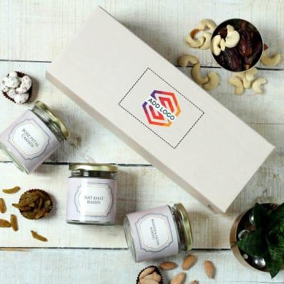 Indulgent Gourmet Hamper in Gift Box - Customized with Logo
