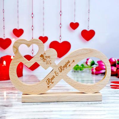 Infinite Love Personalized Wooden Showpiece