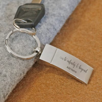 Infinity Personalized Metallic Keychain