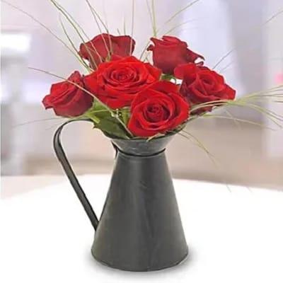 Irresistible Red Roses Arrangement