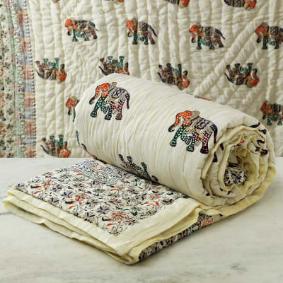 Jaipuri Double Bed Quilt