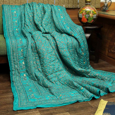 7e47b9f1ab Jaipuri Print Beautiful Cotton Double Bed Quilt: Gift/Send Home and Living  Gifts Online(J11053123) | IGP.com