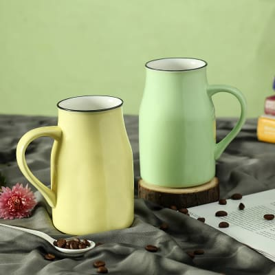 Jar Shaped Ceramic Mugs (Set of 2)