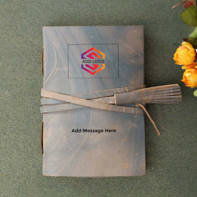 Journal with Belt Closure - Customized with Logo and Message