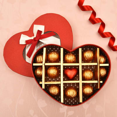 Just for You Romantic Box with Dark and Milk Chocolates 13 Pcs