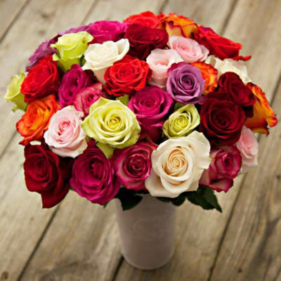 Just Make it Awesome - 24 Assorted Color Roses