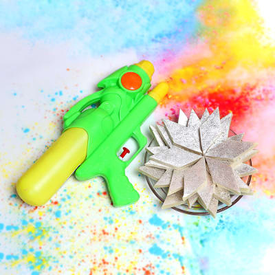 Kaju Katli With Water Gun