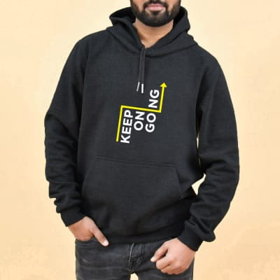 Keep On Going Grey Hoodie for Men