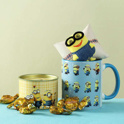 Kids Rakhi With Mug Chocolates Hamper
