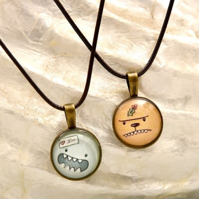 Kiss Me Couple Necklace