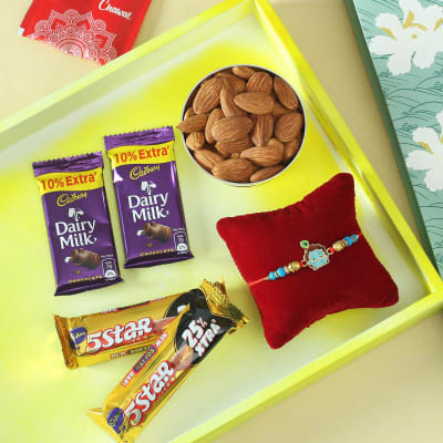Krishna Rakhi with Dry Fruits & Cadbury Chocolates