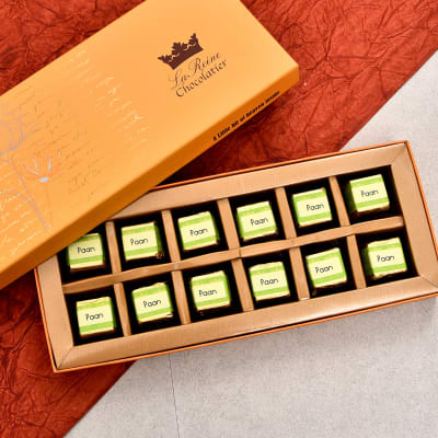 La Reine Paan Flavoured Dark Chocolates 12 Pcs
