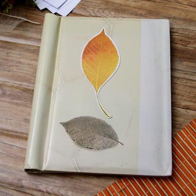 Leaf Designed Personalized Photo Album