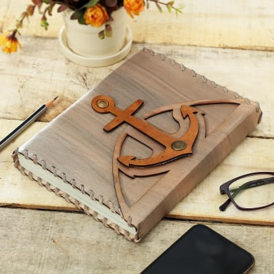 Leather Journal with Anchor Design