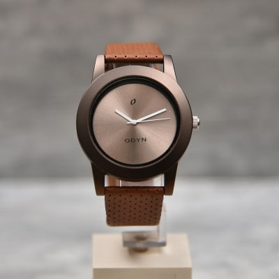 Leather Strap Odyn Fashionable Watch