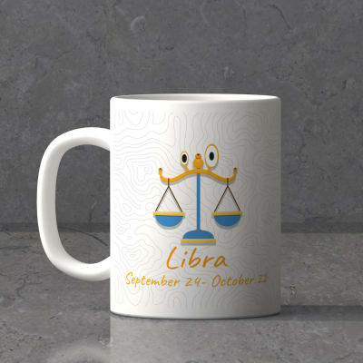 Libra Sun Sign Birthday Mug