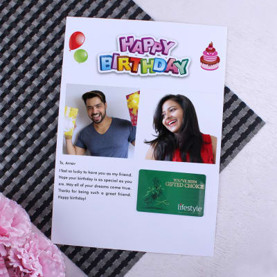 Lifestyle Gift Card With Personalized Birthday Letter 1000