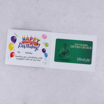 Lifestyle Personalized Birthday Gift Card 1000