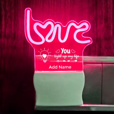 Light Up My Life Love Personalized LED Lamp