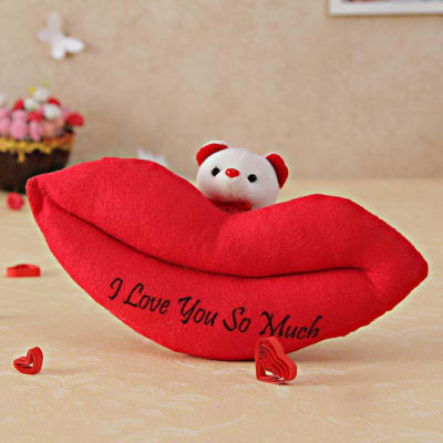 Lips Teddy Soft Toy