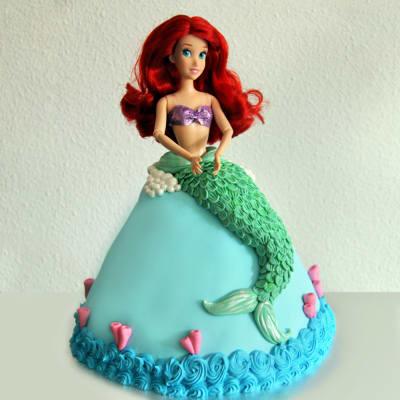 Little Mermaid Fondant Cake (3 Kg)