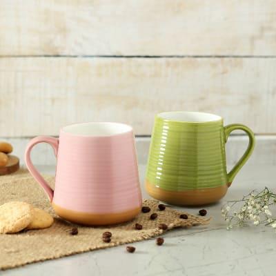 Loop Hoop Ceramic Coffee Mugs (Set of 2)