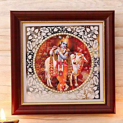 Lord Krishna Fiber Frame