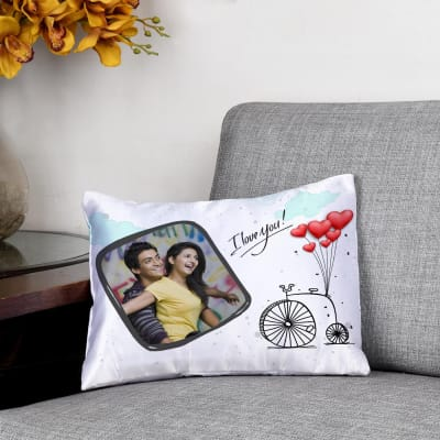 6312c37849e Love   Balloons Personalized Satin Cushion