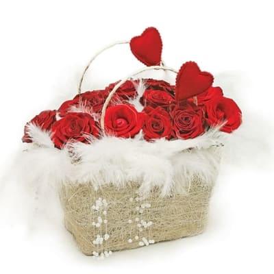 Love basket composition