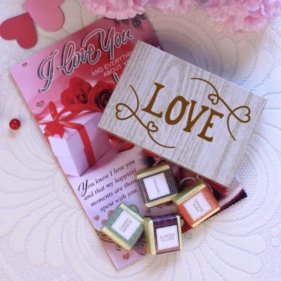 Love Chocolates in Box with Card
