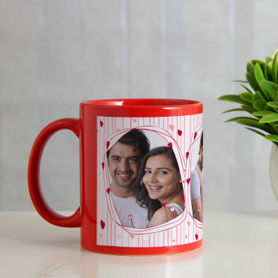 Love Connection Personalized Red Mug
