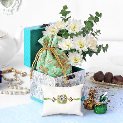 Love-filled Floral Hamper for Rakhi