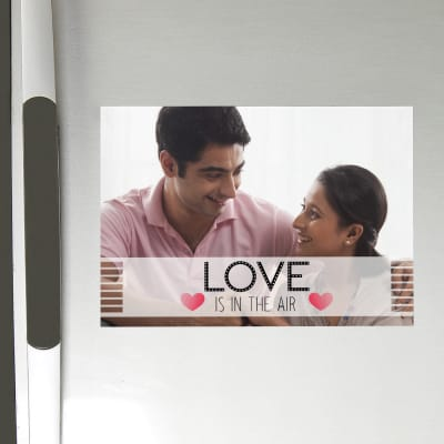 Love is in the Air Personalized A4 Size Fridge Magnet