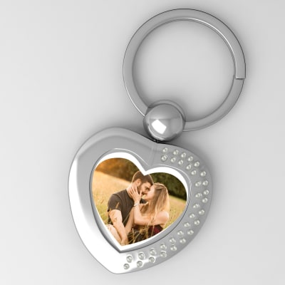 Love is in the Air Personalized Valentine Heart Shaped Key Chain