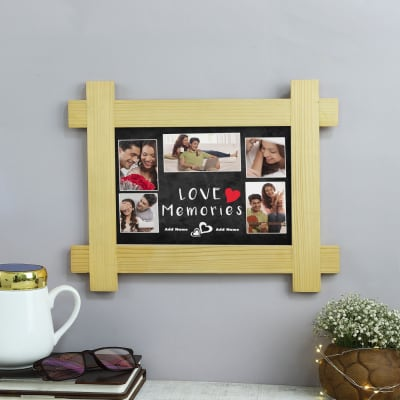 Love Memories Personalized Wooden Photo Frame