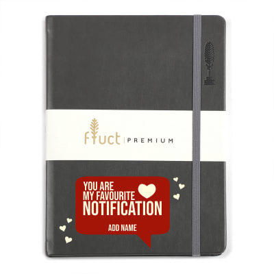 Love Notification Personalized Premium Notebook