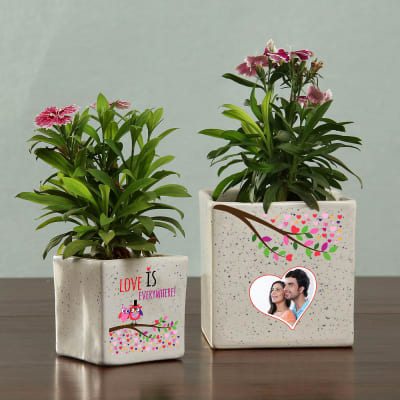 Love Personalized Planter - Set of Two