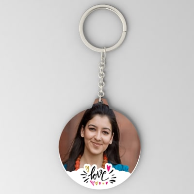 Love Personalized Round Key Chain