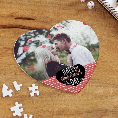 Love Rain Personalized Valentine Heart Shaped Puzzle