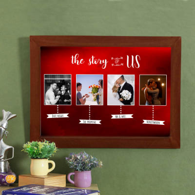 Love Story Personalized Wooden Photo Frame