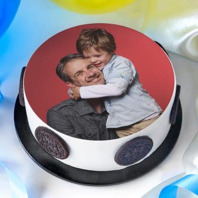 Love You Daddy Scrumptious Photo Cake (Half Kg)