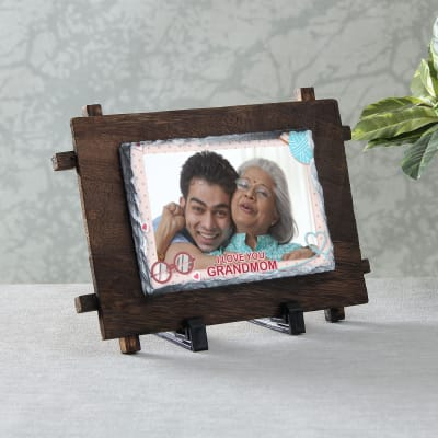 Love You Grandmom Personalized Rock Tile