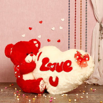 Love You Hugging Teddy Soft Toy Giftsend Toys And Games Gifts